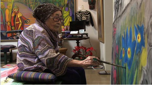 101歳の画家入江一子とは?作品やシルクロード記念館について調査