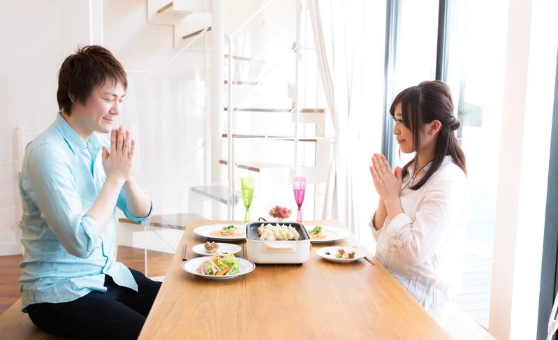 一緒に食事を食べる