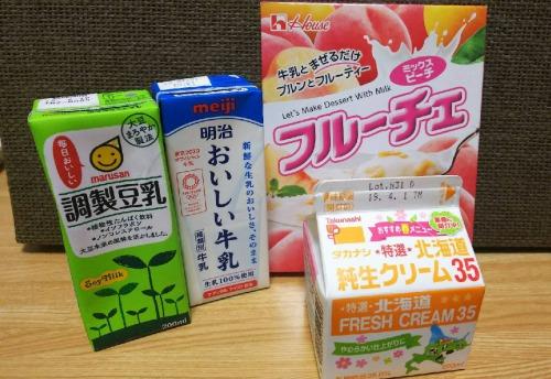 フルーチェを牛乳以外でアレンジ!豆乳・生クリームを食べ比べ!美味しいのはどれ?